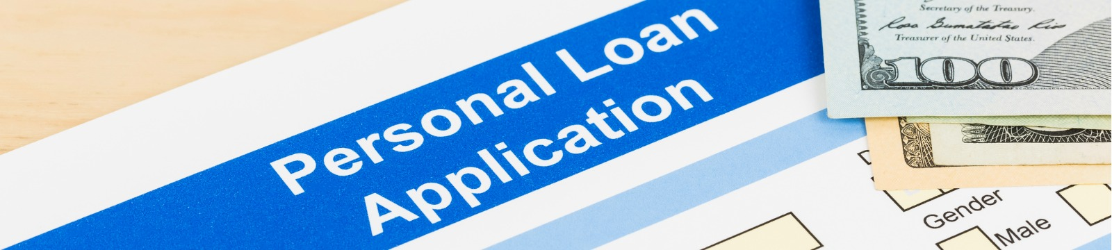 Picture of personal loan application form